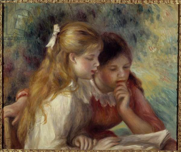 Reading Painting by Pierre Auguste Renoir (1841-1919) 19th century Sun. 0,55x0,65 m Paris, musee d'Orsay