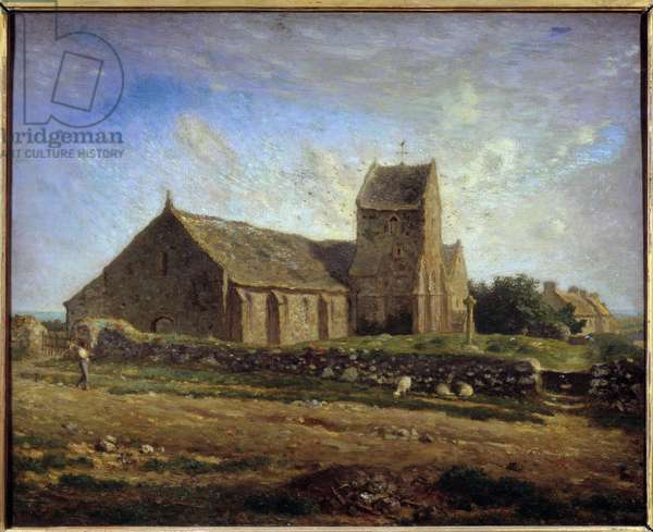 View of the Church of Greville Painting by Jean Francois Millet (1814-1875) 1871 Sun. 0,6x0,73 m Paris, musee d'Orsay