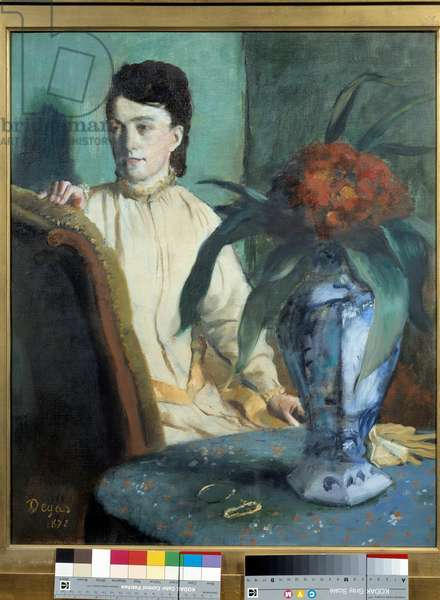 The Woman has the Potiche Painting by Edgar Degas (1834-1917), 1872. Dim. 0,65x0,54 m. Paris, Musee d'Orsay
