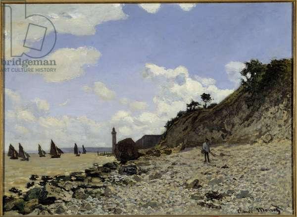 Seaside in Honfleur Painting by Claude Monet (1840-1926) 1864-1866 Los Angeles. Country Museum of Art - Seaside at Honfleur. Painting by Claude Monet (1840-1926), 1864-1866. Los Angeles Country Museum of Art