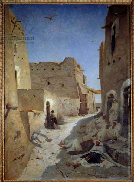 View of Bab el Gharbi Street in Laghouat in Algeria Painting by Eugene Fromentin (1820-1876) 1859 Sun. 1,42x1,02 m Douai, Musee de la Chartreuse