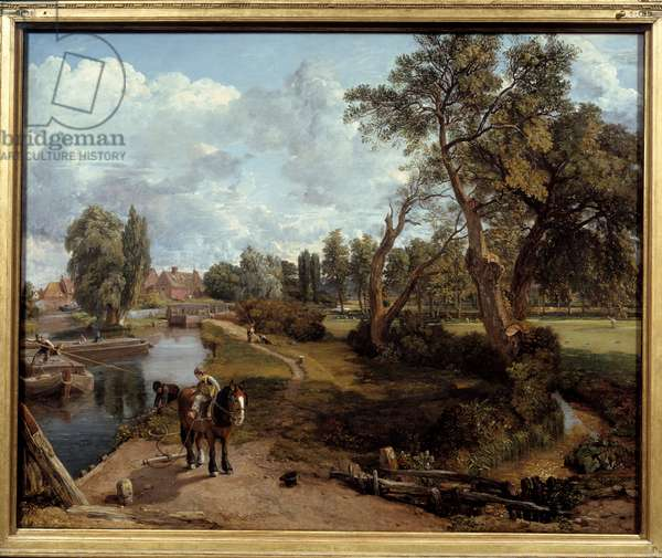 The Flatford mill. Painting by John Constable (1776-1837), 1817. oil on canvas. Dim: 1,01 X 1,27m. London, Tate Gallery
