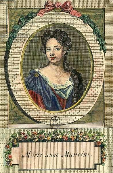 Portrait of Marie Anne Mancini (1649-1714) wife of the Duke of Bouillon.