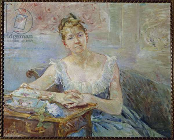 Portrait of Louise Riesener (1860-1944), daughter of the painter Leon Riesener Painting by Berthe Morisot (1841-1895) 1888 Sun. 0,73 x 0,92 m Paris, musee d'Orsay