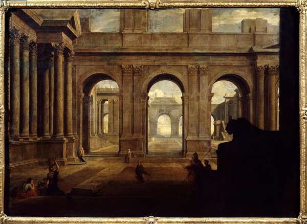 View of an Imaginary Palace Painting by Jean Lemaire (1598-1659) 17th century Paris, Louvre Museum.