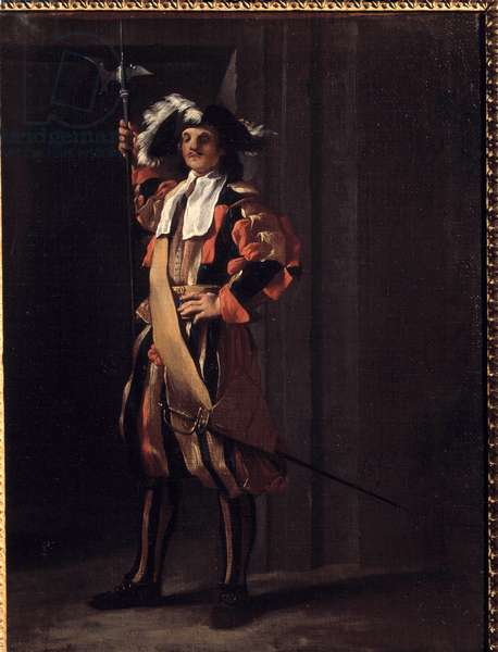 Switzerland of the Pontifical Guard Painting by Jean Barbault (1718-1762). 18th century. Besancon, Museum of Fine Arts