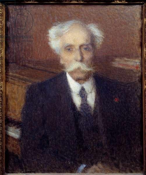 Portrait of Gabriel Faure (1845-1924) French composer. Painting by Ernest Laurent (1859-1929), 1924. Oil on canvas. Dim: 0.65 x 0.54m.