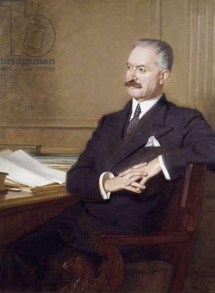 Portrait of Albert Lebrun (1871-1950) President of the Republic, 1933 (oil on canvas)