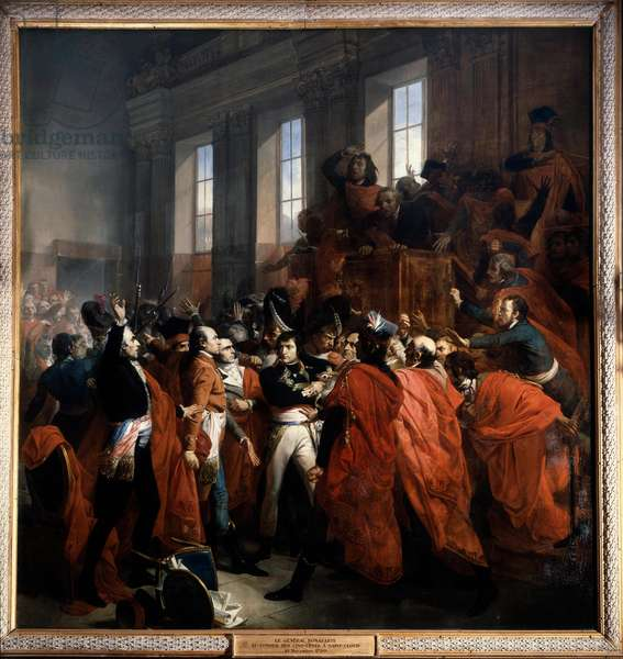 Bonaparte and the Council of Five Hundred at St. Cloud, 10th November 1799, 1840 (oil on canvas)