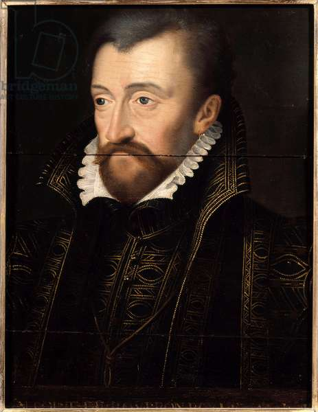 Portrait of Antoine de Bourbon, King of Navarre (1518-1562), father of King Henry IV Painting of the French School of the 16th century. Dim. 0,32 x 0,23 m. Versailles. Chateau Museum