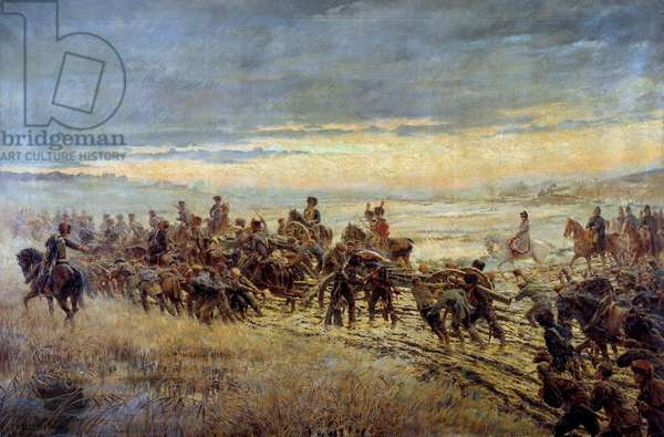 The eve of the Battle of Montmirail 10/02/1814 Painting by Ferdinand Joseph Gueldry (1858-1945) 1903-1904 Sun. 1,3x3,5 m Paris, Musee de l'Armee Attention! Use of this work may be subject to a third party authorization request or additional fees