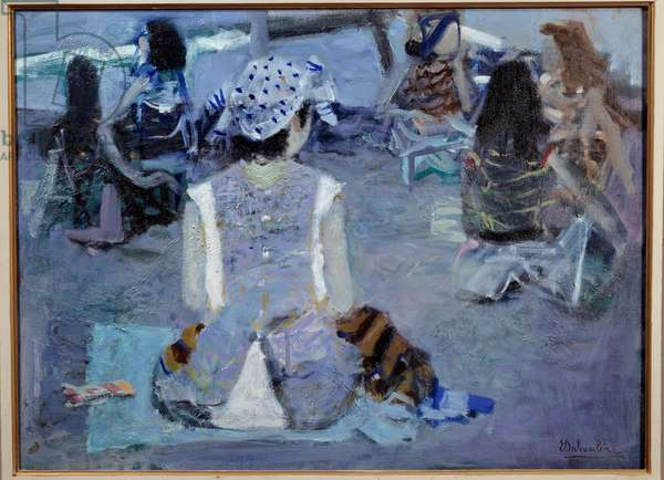 On the beach Painting by Eugene Baboulene (1905-1994) 20th century Avignon, Musee Calvet