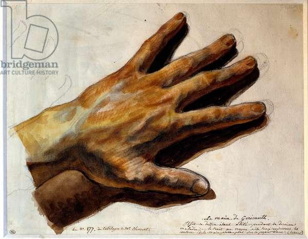Hand of Gericault Painting by Theodore Gericault (1791-1824) 19th century Sun. 0,22x0,29 m