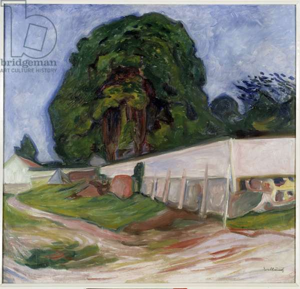 Summer night in Asgardstrand. Painting by Edvard Munch (1863-1944) Ec. Norv., 1904. Oil on canvas. Dim: 0,99 x 1,03m. Paris, Musee d'Orsay.