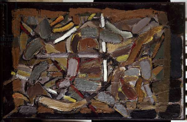Composition Painting by Nicolas de Stael (1914-1955) 1948 Private Collection