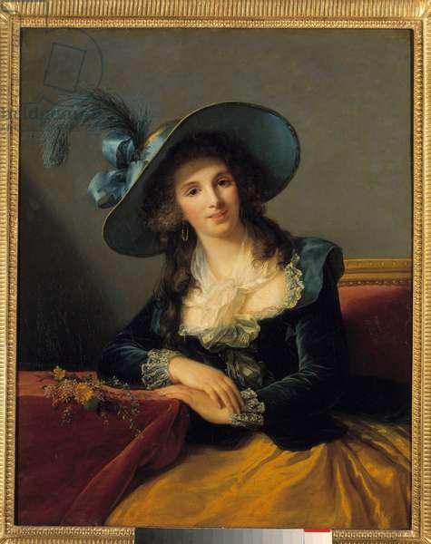 Portrait of Antoinette Elisabeth Marie d'Aguesseau, Countess of Segur (1756-1828) Painting by Marie Elisabeth Louise Vigee Le brun (or Vigee-Lebrun or Vigee Lebrun) (1755-1842). 1785. Dim. 0.92 x 0.73 m.