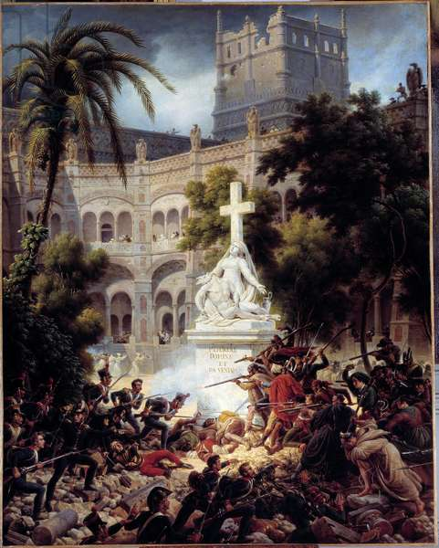 Siege and capture of Zaragoza (Zaragoza): assault of the monastery of San Engracia on February 8, 1809 Painting by Louis Francois Lejeune (1775-1848) 1827 Sun. 1,50 x 1,28 m.