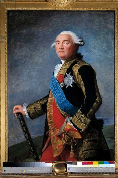 Portrait of Philippe Henri, Marquis de Segur (1724-1801) marechal of France Minister Painting by Marie Elisabeth Louise Vigee Le brun (or Vigee-Lebrun or Vigee Lebrun) (1755-1842). 1789. Dim. 1,15x0,81 m.  - Portrait of Philippe Henri, Marquis de Segur (1724-1801), Marshal of France and Minister. Painting by Marie Elisabeth Louise Vigee Le Brun (or Vigee-Lebrun or Vigee Lebrun) (1755-1842). 1789. 1.15 x 0.81 m.