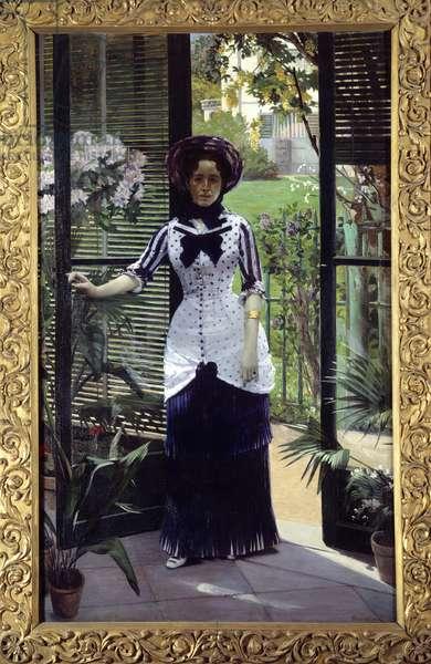 Dans la serre Painting by Albert Bartholome (1848-1928) 1881 Sun. 1,42x2,33 m Paris, musee d'Orsay