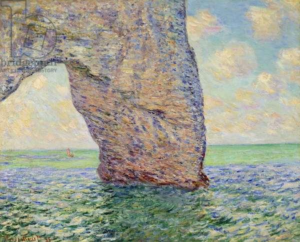 La manneporte à Etretat Painting by Claude Monet (1840-1926) 1885 Dim. 0,65x0,81 m Private collection - The cliff at Etretat (La Manneporte) - Painting by Claude Monet (1840-1926), oil on canvas (65 x 81 cm), 1885 - Private collection