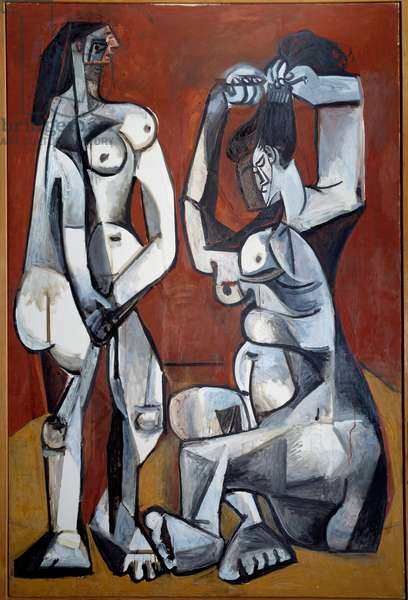 Women in the toilet. Oil on canvas. Dim: 1,95x1,30m. Painting by Pablo Picasso (1881-1973), 1956. Paris, Musee Picasso