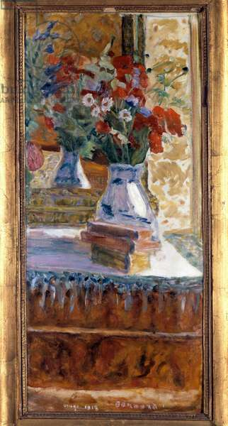 Bouquet of poppies Painting by Pierre Bonnard (1867-1947). 1918. Dim. 0.72 x 0.325 m. Besancon, Museum of Fine Arts