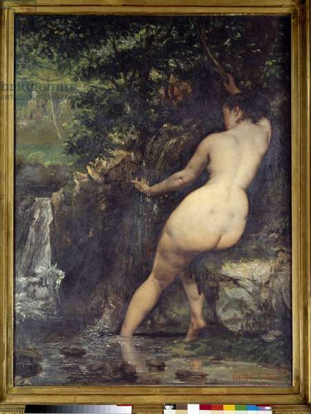 The source or bather at the source Painting by Gustave Courbet (1819-1877) 1868 Sun. 1,28x0,97 m Paris, musee d'Orsay