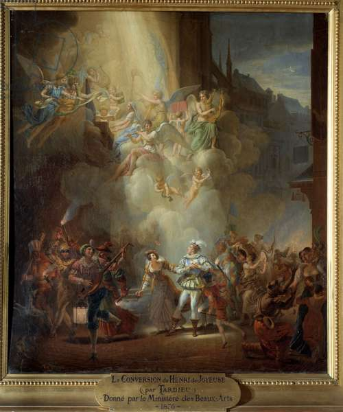 The conversion of Henri de Joyeuse (1567-1608), 16th century. Painting by Jean Charles Tardieu (1765-1830), 19th century Meaux, Musee Bossuet