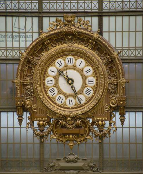 The large interior clock of the Musee d Orsay