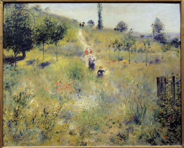 Path rising in the high herbs Painting by Pierre Auguste Renoir (1841-1919) 1875 Sun. 0,6x0,74 m Paris, musee d'Orsay