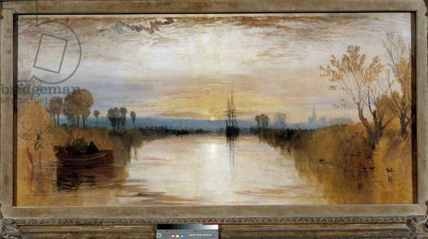 Chichester Canal around 1828. Painting by Joseph Mallord William Turner (1775-1851), 1828. London, Tate Gallery