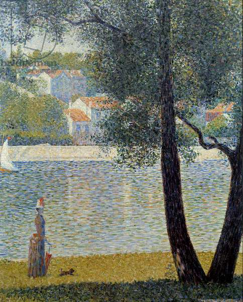 La Seine a Courbevoie Painting by Georges Seurat (1859-1891) 1885 Private collection - The Seine at Courbevoie. Painting by Georges Seurat (1859-1891), 1885. Private collection