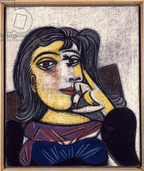 Portrait of photographer and painter Henriette Theodora Markovitch aka Dora Maar (1907-1997), lover and muse of the artist Oil and pastel painting by Pablo Picasso (1881-1973) 01/10/1937 Sun. 0,55x0,45m. Paris, Musee Picasso