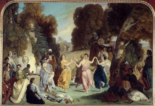 La danse des Muses Painting by Louis Boulanger (1806-1867) 1851 Sun. 2,2x3,25 m Paris, Musee Carnavalet