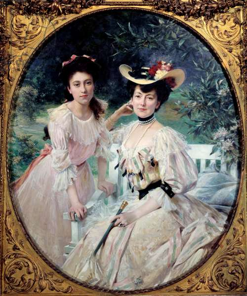 Portrait of Madame Collas and Her Daughter Painting by Theobald Chartran (1849-1907) 1903 Sun. 1,63x1,3 m Paris, musee d'Orsay