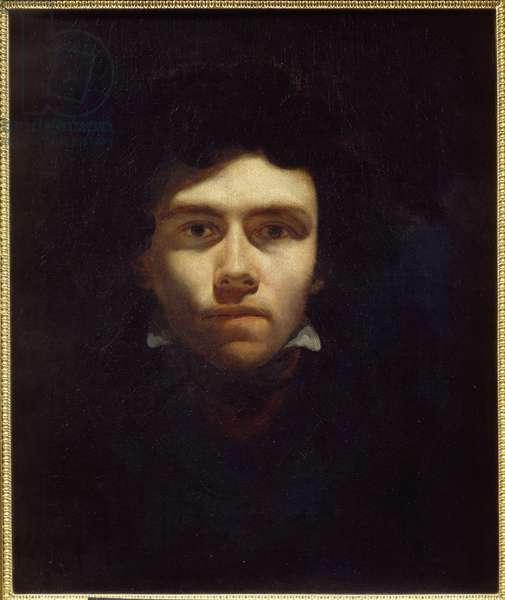Portrait of the Painter Eugene Delacroix (1798-1863) Painting by Theodore Gericault (1791-1824) 1820-1824 Sun. 0,5x0,6 m Rouen, Musee des Beaux Arts