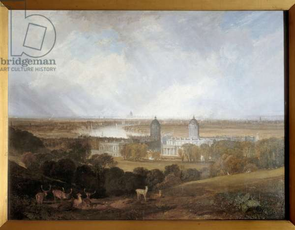 View of London from Greenwich. Painting by Joseph Mallord William Turner (1775-1851), 19th century. London, Tate Gallery