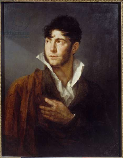 Self Portrait Painting by Philippe Auguste Hennequin (1762-1833) 19th century Caen, Musee des Beaux Arts
