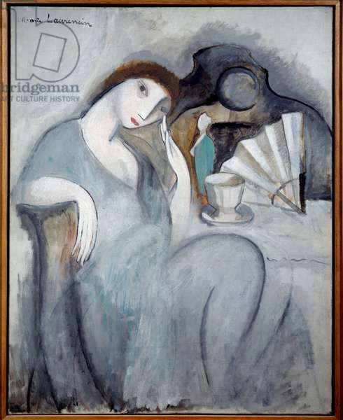 La songeuse Painting by Marie Laurencin (1883-1956) 1910 Sun. 0,91x0,75 m Paris, Musee Picasso