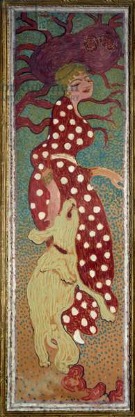 Woman in the dress with white polka dots Painting by Pierre Bonnard (1867-1947) 1891 Dim. 1,6x0,48 m Paris, musee d'Orsay