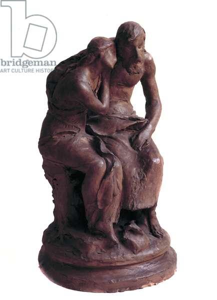 Oedipus with the Column Preparatory sculpture by Jean Baptiste Hugues Dominique (1849-1936) 1885 Paris, Musee du Louvre