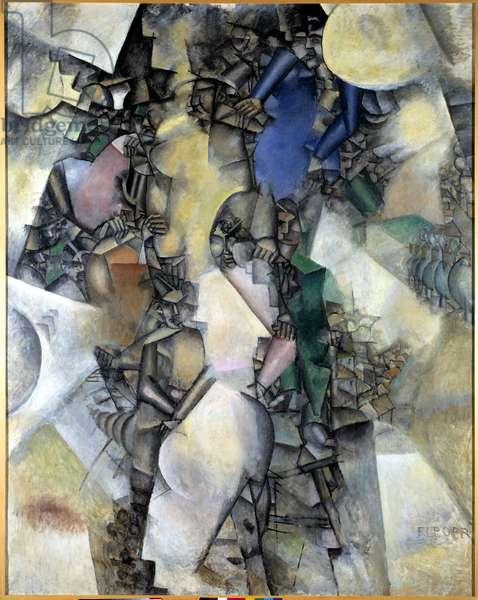 La noce Peinture by Fernand Leger (1881-1955) 1911 Paris, Musee national d'art moderne
