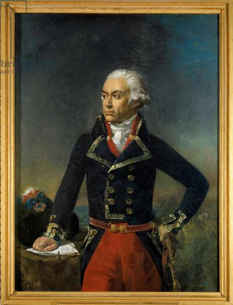 Portrait of Charles Francois Dumouriez, General in Chief of the Northern Armee 1792 (1739-1823) Painting by Jean-Sebastien Rouillard (1789-1852) 1835 Sun. 1,35x1 m.
