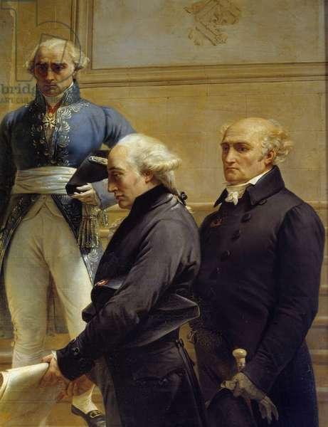 Portrait of the French architect Pierre Francois Leonard Fontaine (1762-1853) Detail of paintings by Merry Joseph Blondel (1781-1853), 1837 Galeries du Chateau de Versailles.
