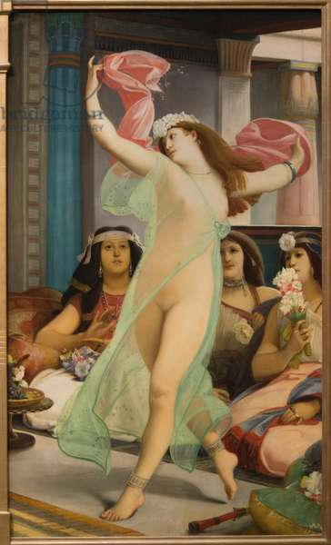 Oriental dancer in a harem (oil on canvas circa 1885- 1886)