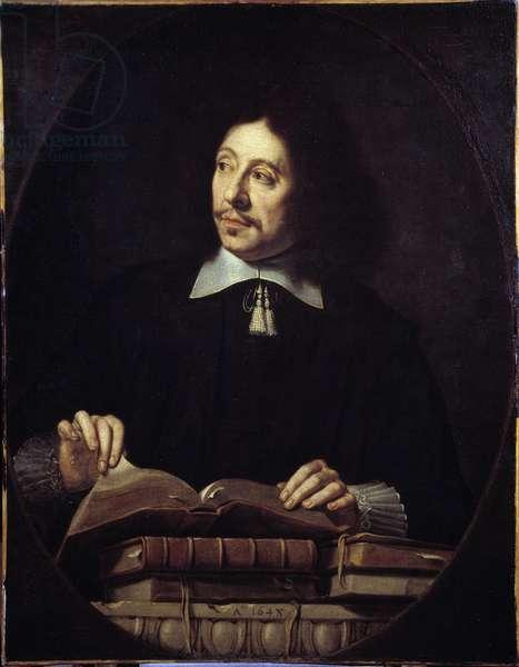 Man portrait. Painting by Philippe de Champaigne (1602-1674) ec. Flam., 1648. Dim: 0.88 X 0.68m. Musee du Louvre, Paris.