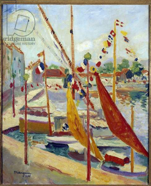 July 14 a Saint Tropez Painting by Henri Manguin (1874-1949) 1905 Private collection