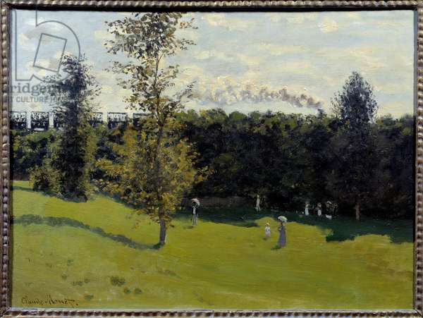 Train in the countryside Painting by Claude Monet (1840-1926) 1870 Sun. 0,5x0,65 m Paris, Musee d'Orsay