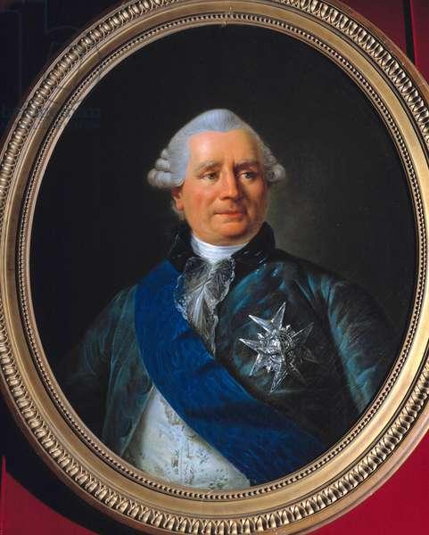 Portrait of Charles Gravier, Count of Vergennes (1719-1787) Minister Painting by Antoine Francois (Antoine-Francois) Callet (1741-1823) 18th century. Dim. 0.79 x 0.61 m. Versailles, Chateau Museum