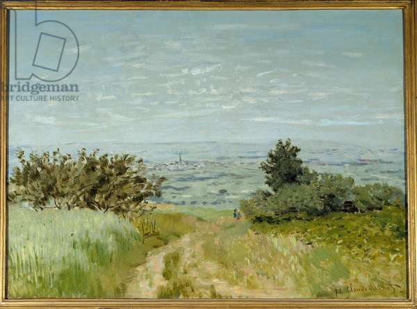 View from plain to Argenteuil, slopes of Sannois in 1872. Painting by Claude Monet (1840-1926), 1872. Oil on canvas. Dim: 0.53 x 0.72m. Paris. Orsay Museum